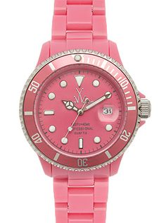 TOY WATCH It's ceramic... no it's plastic... IT'S PLASTERAMIC! Chic ceramic looking plastic features crystal or tritium dot markers