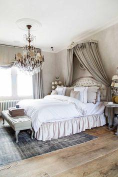 Master Bedroom Bathroom, Girls Bedroom, Bedroom Furniture, Bedroom Decor, Room Interior, Interior Design, French Country Bedrooms, Dream Home Design, House Beds