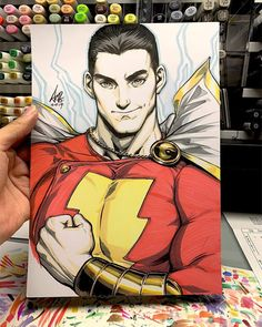 Haven't had a chance to catch Shazam. So this is the sketch done over Discord hangout. Comic Book Artists, Comic Book Characters, Comic Books Art, Comic Art, Character Concept, Character Art, Character Design, Teen Titans Starfire, Captain Marvel Shazam