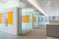 James Turrell Enlivens NYC Office Perimeter offices' custom wool-wrapped tackboards pay homage to the color theory of Josef Albers.
