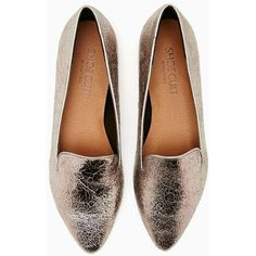 perfect silver flat to go with everything Shoe Cult Motive Loafer... ❤ liked on Polyvore featuring shoes, loafers, flats, silver flat shoes, flat shoes, silver flats, flat footwear and shoe cult