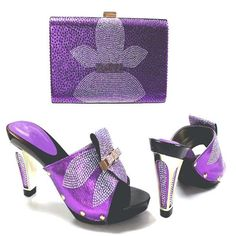 097f116866807d African Shoe and Bag Set for Party I