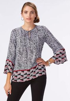 b6ba43a00f5 Cato Fashions Floral Poet Bell Sleeve Top  CatoFashions Bell Sleeve Top