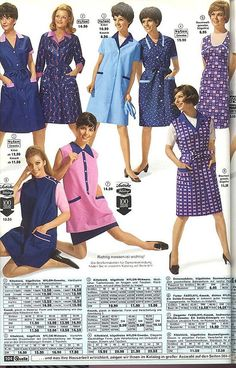 Nylons, Blouse Nylon, Staff Uniforms, Housecoat, Overalls, Shirt Dress, Summer Dresses, Retro, Film