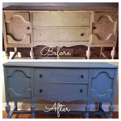DIY Buffet table with Annie Sloan Chalk Paint