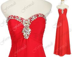 Red Prom Dresses 2014 Prom Gown Strapless Sweetheart by Formals, $159.00