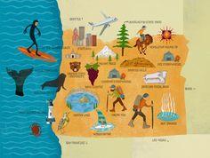 Oregon Map - Santiago Uceda illustration, motion graphics, and . Oregon Forest, Oregon Map, Pix Art, Oregon State University, Tourist Map, Motion Graphics, Hand Lettering, Artsy, History