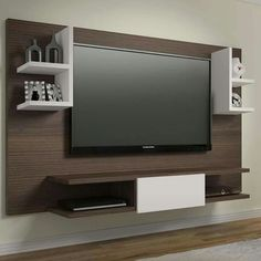 painel Home theaters Painel Home Theater Lumes em MDF 136 x 180 x 40 Rovere Marsala/Branco - Urbe Mveis Tv Wall Design, Tv Unit Design, Sofa Design, House Design, Interior Design, Painel Home, Muebles Home, Lcd Units, Home Theater Tv