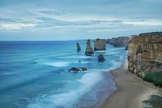 """Another shot from last weekend. The wind starts to roll in down on a very overcast afternoon at the Great Ocean road 12 Apostles - Pt Campbell Victoria. Sony a6000 
