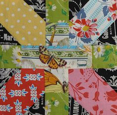 Japanese X and + block at Cabbage Quilts