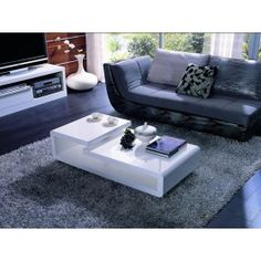 5011C - Modern White Lacquer Coffee Table - 215.0000