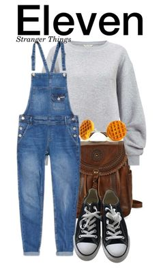 """""""Eleven - Stranger Things"""" by nerd-ville ❤ liked on Polyvore featuring Patricia Nash, Miss Selfridge, Superdry and Converse"""