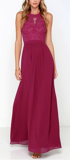 Berry lace gown