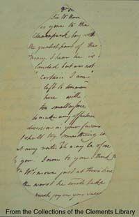 Mask letter of revolutionary Culper Spy Ring