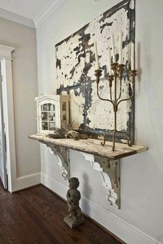 Cool Shabby Chic Decor examples, styling idea number 9939441566 - Attractive ideas a shabby but really charming shabby chic decor ideas . This shabby suggestion imagined on this not so shabby day 20181217 Muebles Shabby Chic, Shabby Chic Decor, Vintage Decor, Rustic Decor, Antique Decor, Salvaged Decor, Rustic Entry, Vintage Shelf, Repurposed