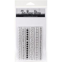 """Two Paper Divas C251 All About Borders Stamps, 7"""" by 4.5"""""""