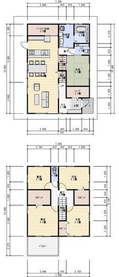 家 間取り 40坪書斎ののある家 2階建て