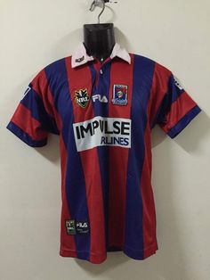 55f061f4e Rare Newcastle Knights IMPULSE AIRLINE NRL FILA Jersey Matthew Parkes -  Athletic Apparel