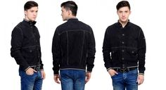 Men Leather Jacket - GUAVA  The women will fall for you for your fashion sense when you walk out wearing this smart jacket from guava  http://goo.gl/D2j0vs