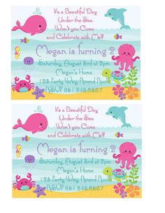 diy under the sea girl party invitation by paperpartyparade 1300 - Under The Sea Party Invitations