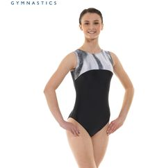 Nylon//Sparkly Foil Ladies Gymnastics Sleeveless Leotard Gym Dancewear 10 /& 12
