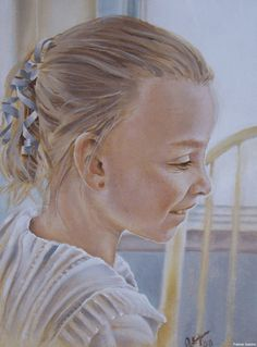 Painting of my daughter, by Patrick Ganino