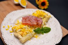 dia.cuisine: Sparanghel alb la cuptor Risotto, Grains, Food And Drink, Rice, Eggs, Breakfast, Ethnic Recipes, Morning Coffee, Egg