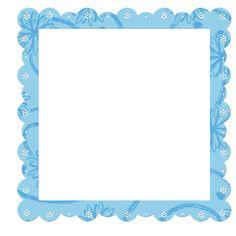 Синий прозрачный рамка с цветами элементов