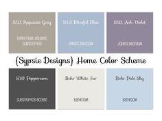 Whole house paint color scheme! Neutrals and colors the flow together | sypsie.com