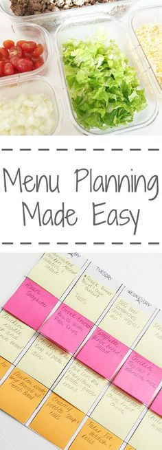 Planning Made Easy Love these ideas for making menu planning easier!Love these ideas for making menu planning easier! Make Ahead Meals, Freezer Meals, Easy Meals, Easy Meal Plans, Frugal Meals, Planning Menu, Planning Budget, Good Food, Yummy Food