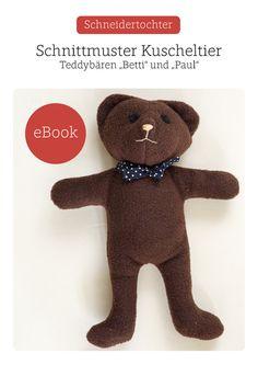 Ebook+ +Teddybär+nähen+ Schnittmuster+für+Anfänger+von+Schneidertochter