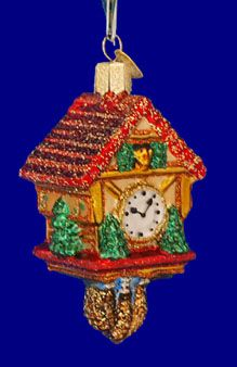 Cuckoo Clock Glass Ornament by Old World Christmas