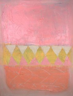 """enjoycolorfullife:  """"    colorful life  Pink Abstract painting sale Morrocan, Tribal, African contemporary art """""""