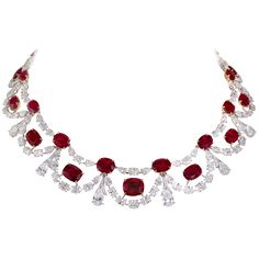 Ruby and diamond necklace. Moussaieff boast a stunning range of exceptional hand-crafted high jewellery, including rings, necklaces, earrings, bracelets, tiaras and more.