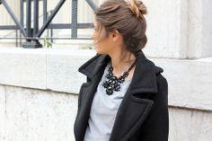 Gros collier noir - Jessie Chanes