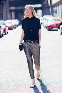 Easy Ways to Incorporate Metallics Into Your Wardrobe | StyleCaster