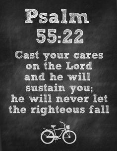 Psalm 55:22 Printable