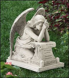 Inches Wide X Inches High, Resin Memorial Remembrance Grieving Angel Statue for Grave Cemetery Angels, Cemetery Statues, Cemetery Art, Angels Garden, Angel Garden Statues, Weeping Angels, Statue Ange, I Believe In Angels, Ange Demon