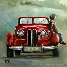 Original Fine Art Painting by Maria Magdalena Oosthuizen. Medium: Oil on Canvas. Stretched, and Blocked, Not Framed. Dimensions: Width (mm) Height (mm) Depth (m Art Watercolor, South African Artists, Car Painting, Mail Art, Amazing Art, Canvas Art, Fine Art, Drawings, Illustration