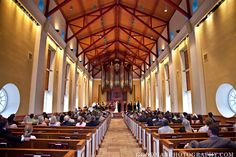 Our wedding venue - the Daniel Chapel at Furman University. Gorgeous space and a phenomenal pipe organ!