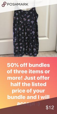 50% off Bundles! American Eagle Babydoll Dress Great condition American Eagle Outfitters Dresses Mini