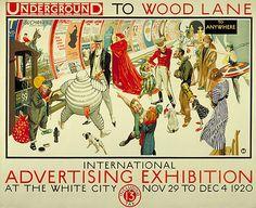 Underground advertising poster, 1920