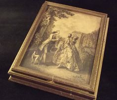 Vintage Wooden Jewelry Box French Pastoral by sistersvintageattic