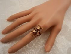 Swirly Ring in Vintage Bronze and Gold by ShiriDaniella on Etsy, $15.00