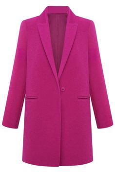 Engaging One-Button Coat