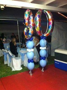 Milestone birthday balloons