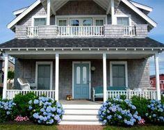 gray house blue door - Google Search