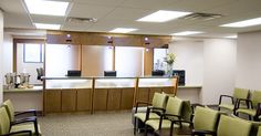 #1 I am going to start with a disclaimer, this is a picture I found online, but it depicts the exact design issue I deal with on a daily basis. The idea came to me after leaving work on Friday and I was not able to get a picture after that. This is a picture of a reception desk at a medical office. Very nice desk, computers are spaced enough to give people privacy when checking in.