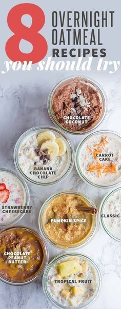 8 Classic Overnight Oats recipes you should try for breakfast! #overnightoats #mealplanning #easybreakfast