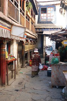 The Old City, Lhasa, Tibet* Arielle Gabriel writes about miracles and travel in The Goddess of Mercy & The Dept of Miracles also free China toys and paper dolls at The China Adventures of Arielle Gabriel *